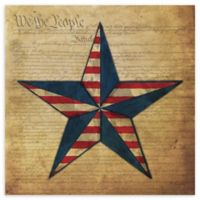 Courtside Market American Flag Star I Canvas Wall Art
