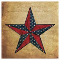 Courtside Market American Flag Star II Canvas Wall Art