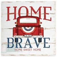 """Courtside Market """"Home of the Brave"""" Truck Canvas Wall Art"""