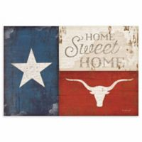 "Courtside Market Texas ""Home Sweet Home"" Canvas Wall Art"