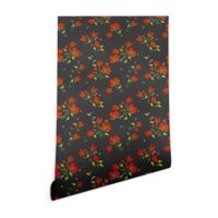 Deny Designs Holli Zollinger Boho Farmhouse Floral 2-Foot x 4-Foot Peel and Stick Wallpaper