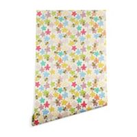 Deny Designs Sharon Turner Indian Summer Flowers Bees 2-Foot x 4-Foot Peel and Stick Wallpaper