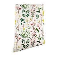 Deny Designs Holli Zollinger Wildflower Study Light 2-Foot x 4-Foot Peel and Stick Wallpaper