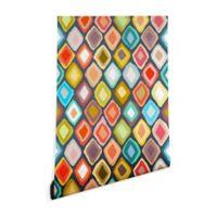 Deny Designs Sharon Turner Almas Diamond Ikat 2-Foot x 8-Foot Peel and Stick Wallpaper