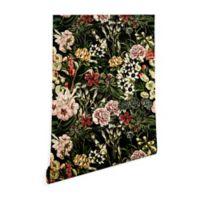 Deny Designs Marta Barragan Camarasa Dark Bloom 2-Foot x 8-Foot Peel and Stick Wallpaper