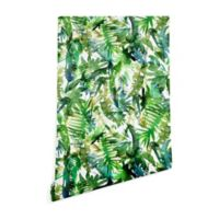 Deny Designs Schatzi Brown Vibe of the Jungle 2-Foot x 8-Foot Peel and Stick Wallpaper