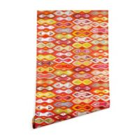 Deny Designs Sharon Turner Raveena Ikat 2-Foot x 8-Foot Peel and Stick Wallpaper