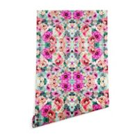 Deny Designs Marta Barragan Camarasa Abstract Flowers 2-Foot x 4-Foot Wallpaper