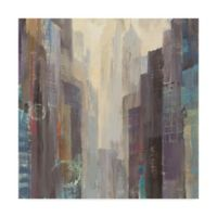 Trademark Fine Art City At Dawn 35-Inch Square Canvas Wall Art