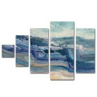 Trademark Fine Art Currents Multi Panel Canvas Wall Art (Set of 5)