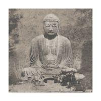 Trademark Fine Art Asian Buddha 14-Inch x 14-Inch Canvas Wall Art