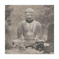 Trademark Fine Art Asian Buddha 18-Inch x 18-Inch Canvas Wall Art