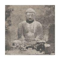 Trademark Fine Art Asian Buddha 35-Inch x 35-Inch Canvas Wall Art