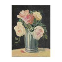 Trademark Fine Art Carol Rowan Silver Vase I On Black 18-Inch x 24-Inch Canvas Wall Art