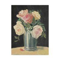 Trademark Fine Art Carol Rowan Silver Vase I On Black 24-Inch x 32-Inch Canvas Wall Art