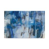 Trademark Fine Art Industrial Blue III 12-Inch x 19-Inch Canvas Wall Art