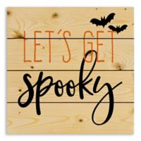 "Designs Direct ""Let's Get Spooky"" 14-Inch Square Wood Wall Art"