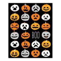 "Designs Direct ""Boo"" Pumpkin Pattern 16-Inch x 20-Inch Canvas Wall Art"