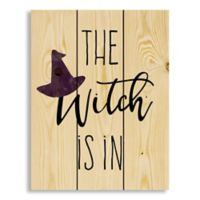 """Designs Direct """"The Witch is In"""" 10.5-Inch x 14-Inch Wood Wall Art"""