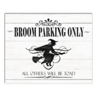 Designs Direct Broom Parking Only 2-Inch x 16-Inch Canvas Wall Art