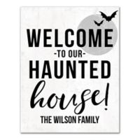 "Designs Direct ""Welcome to Our Haunted House"" 11-Inch x 14-Inch Canvas Wall Art"