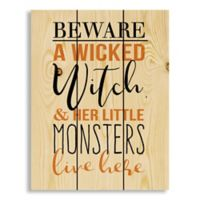 Designs Direct A Wicked Witch Monsters 10.5-Inch x 14-Inch Canvas Wall Art