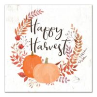 """Designs Direct """"Happy Harvest"""" 16-Inch Square Canvas Wall Art"""