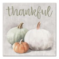 """Designs Direct """"Thankful"""" 16-Inch Square Canvas Wall Art"""