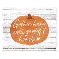 """Designs Direct """"Gather with Grateful Hearts"""" 20-Inch x 16-Inch Canvas Wall Art"""