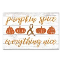 "Designs Direct ""Pumpkin Spice"" 18-Inch x 12-Inch Canvas Wall Art"