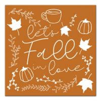 """Designs Direct """"Let's Fall in Love"""" 12-Inch Square Canvas Wall Art"""