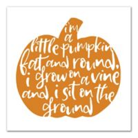 "Designs Direct ""Little Pumpkin"" 12-Inch Square Canvas Wall Art"