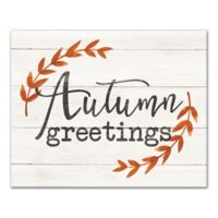 "Designs Direct ""Autumn Greetings"" 16-Inch x 20-Inch Canvas Wall Art"