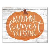 "Designs Direct ""Autumn Harvest Blessing"" 11-Inch x 14-Inch Canvas Wall Art"