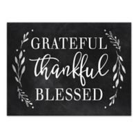 "Designs Direct ""Grateful, Thankful, Blessed"" 18-Inch x 24-Inch Canvas Wall Art"