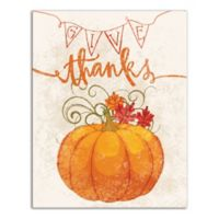"Designs Direct ""Give Thanks"" 11-Inch x 14-Inch Canvas Wall Art"