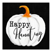 """Designs Direct """"Happy Haunting"""" 16-Inch Square Canvas Wall Art"""