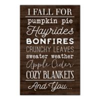 Designs Direct I Fall for Autumn Things 16-Inch x 24-Inch Canvas Wall Art