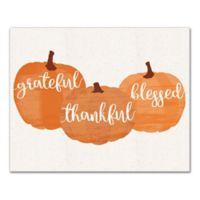 """Designs Direct """"Grateful, Thankful, Blessed"""" 16-Inch x 20-Inch Canvas Wall Art"""