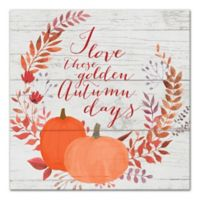 """Designs Direct """"Golden Autumn Days"""" 12-Inch Square Canvas Wall Art"""
