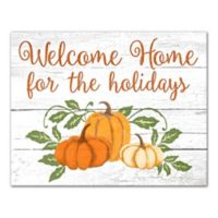 Designs Direct Home for the Holidays 11-Inch x 14-Inch Canvas Wall Art