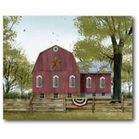 Courtside Market Red Barn 20-Inch x 24-Inch Canvas Wall Art