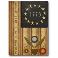 Courtside Market 1776 Country Flag 20-Inch x 24-Inch Canvas Wall Art