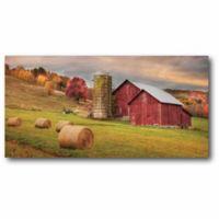 Courtside Market Redline Hay Harvest 14-Inch x 28-Inch Canvas Wall Art