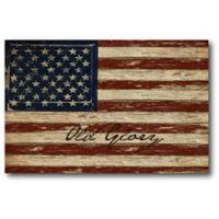 Courtside Market Old Glory American Flag 24-Inch x 36-Inch Canvas Wall Art