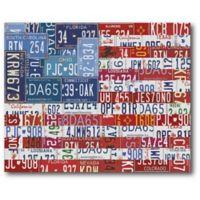 Courtside Market USA Flag 20-Inch x 24-Inch Canvas Wall Art