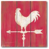 Courtside Market Farmhouse Rooster 18-Inch x 18-Inch Canvas Wall Art