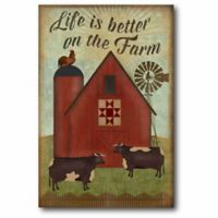 """Courtside Market """"Life Is Better On The Farm"""" Canvas Wall Art"""