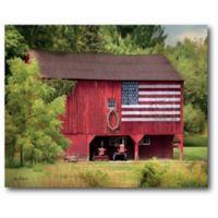 Courtside Market American Flag Barn Canvas Wall Art