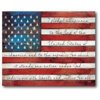 Courtside Market Pledge Allegiance Flag 24-Inch x 20-Inch Wall Art